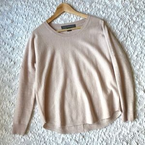 French Connection Loose Slouchy Sweater Blush Pink